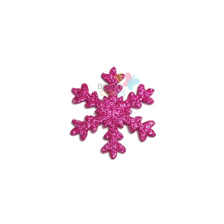 Aplique de EVA Gelo Pink Glitter - Tamanho G - 50 Unidades
