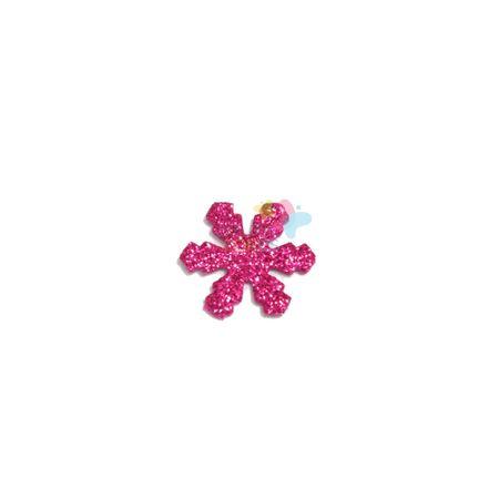 Aplique de EVA Gelo Pink Glitter - Tamanho P - 50 Unidades