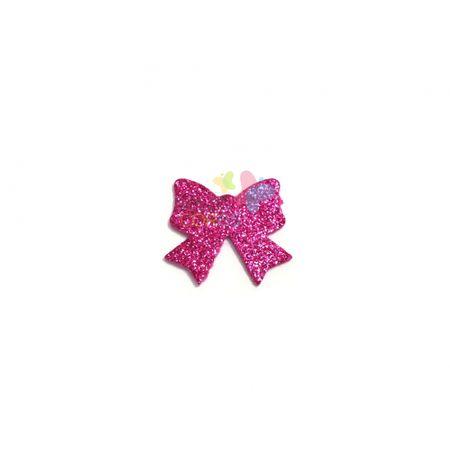 Aplique de EVA Laço Pink Glitter - Tamanho M - 50 Unidades