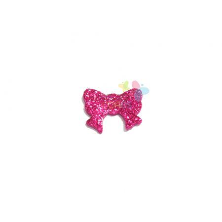 Aplique de EVA Laço Pink Glitter - Tamanho P - 50 Unidades