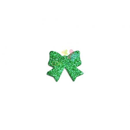 Aplique de EVA Laço Verde Bandeira Glitter - Tamanho M - 50 Unidades