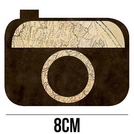 Aplique de MDF e Papel - Câmera Mundi APM8 - 1095