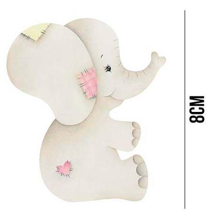 Aplique de MDF e Papel - Elefanta APM8 - 962