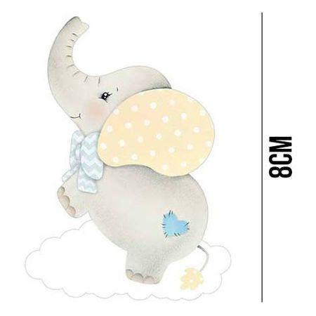 Aplique de MDF e Papel - Elefante APM8 - 967