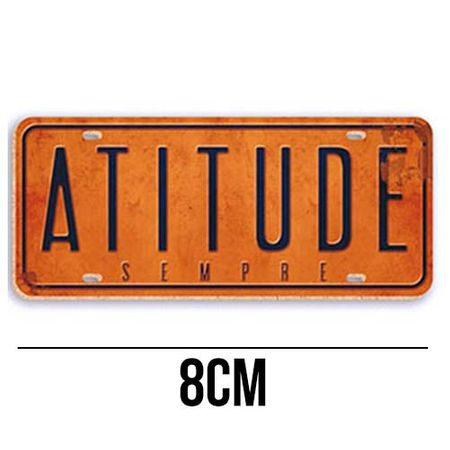 Aplique de MDF e Papel - Placa Atitude Sempre APM8 - 353