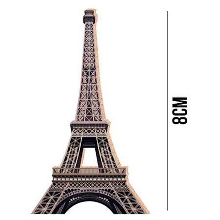 Aplique de MDF e Papel - Torre Eiffel APM8 - 093