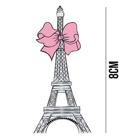 Aplique de MDF e Papel - Torre Eiffel Laço APM8 - 923