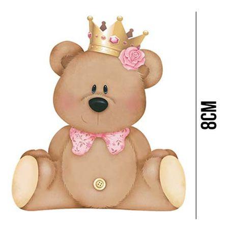 Aplique de MDF e Papel - Ursa com Coroa APM8 - 630