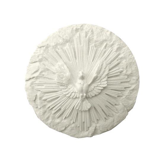 Aplique de Resina Redondo Divino com Ostensório 11,4x11,2cm