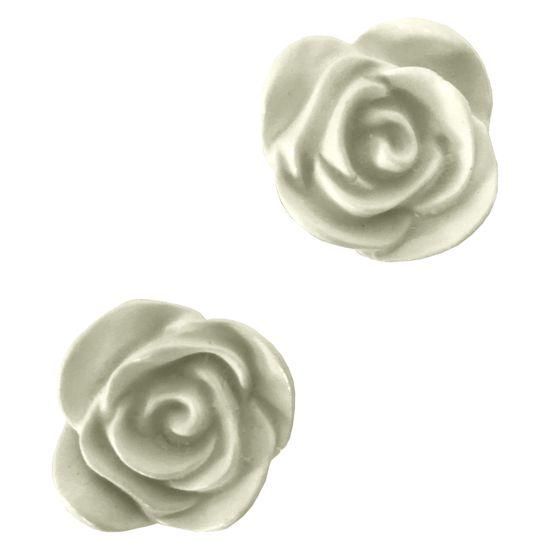 Aplique de Resina Rosa 2,5x2,5cm com 2 Peças