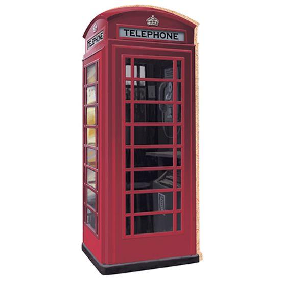 Aplique Decoupage Litoarte APM8-092 em Papel e MDF 8cm Telefone London