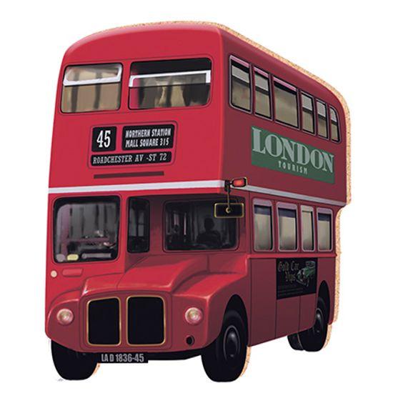 Aplique Decoupage Litoarte APM8-091 em Papel e MDF 8cm Ônibus London