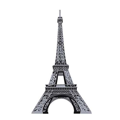 Aplique Decoupage Litoarte APM8-533 em Papel e MDF 8cm Torre Eiffel Prata