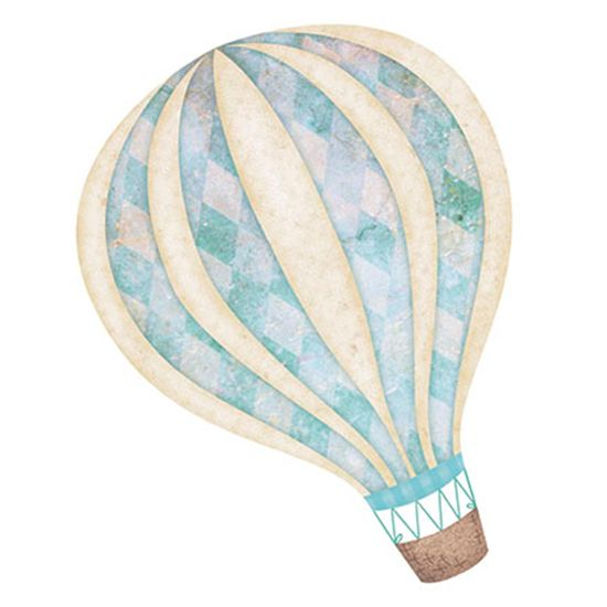 Aplique Decoupage Litoarte APM8-633 em Papel e MDF 8cm Balão Menino