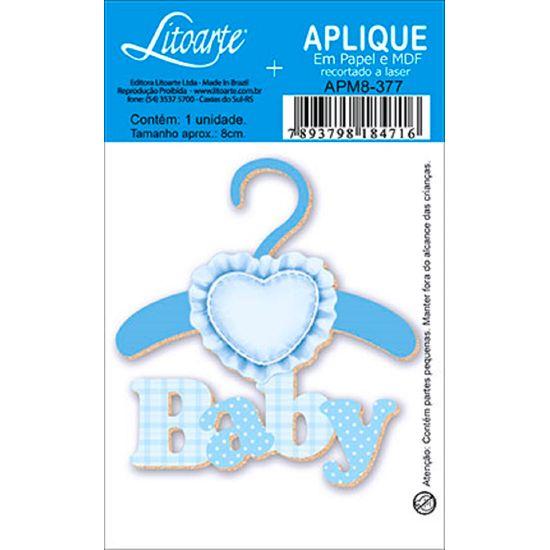 Aplique Decoupage Litoarte APM8-377 em Papel e MDF 8cm Baby