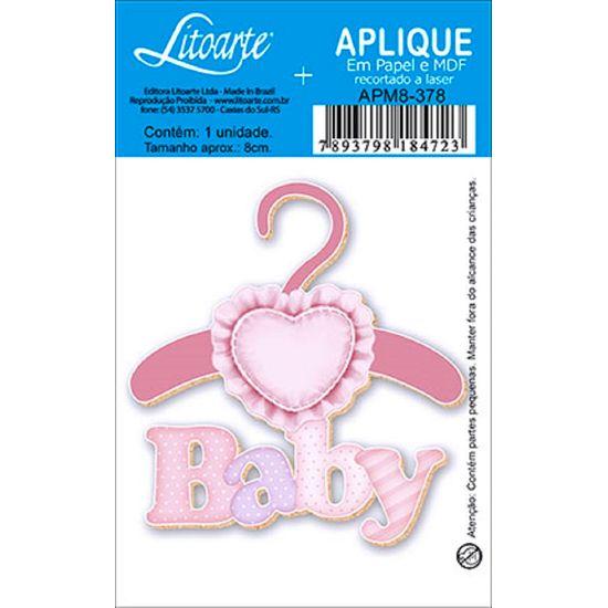 Aplique Decoupage Litoarte APM8-378 em Papel e MDF 8cm Baby