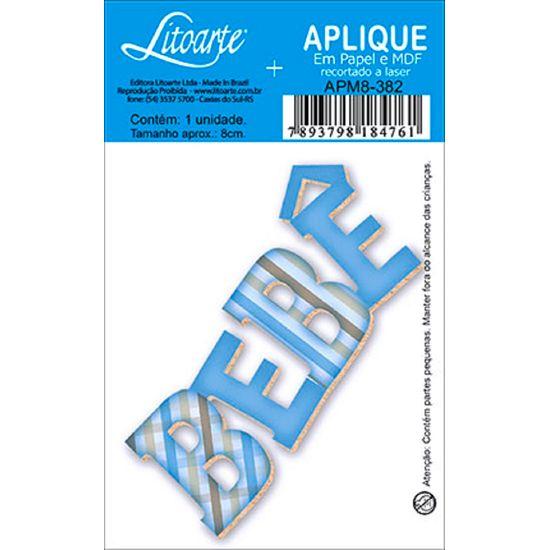 Aplique Decoupage Litoarte APM8-382 em Papel e MDF 8cm Bebê