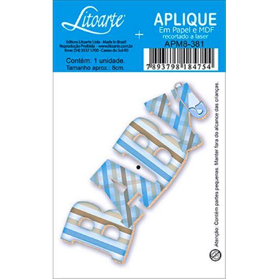 Aplique Decoupage Litoarte APM8-381 em Papel e MDF 8cm Baby