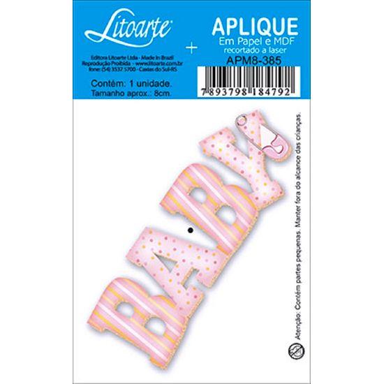 Aplique Decoupage Litoarte APM8-385 em Papel e MDF 8cm Baby