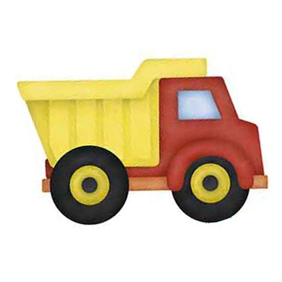 Aplique Decoupage Litoarte APM8-858 em Papel e MDF 8cm Caminhão