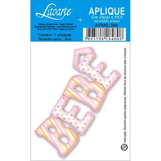 Aplique Decoupage Litoarte APM8-386 em Papel e MDF 8cm Bebê