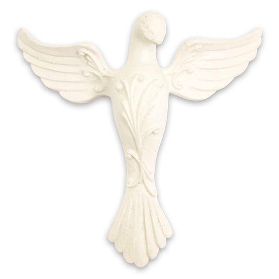 Aplique Divino Espírito Santo Arabescos 9x8,5cm - Resina