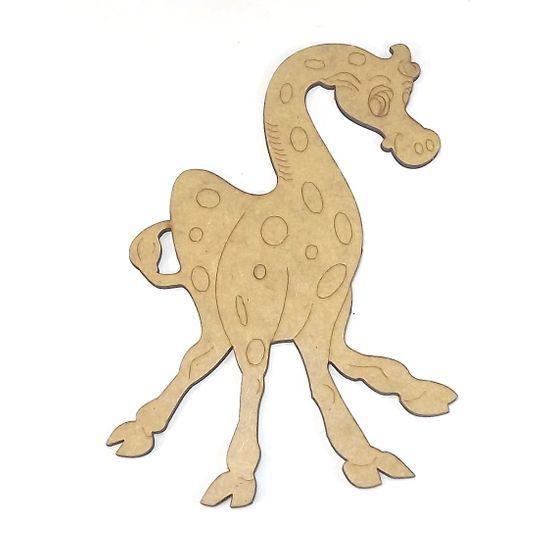 Aplique em MDF Girafa Maluca 14x11cm - Palácio da Arte