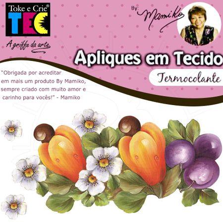 Aplique em Tecido By Mamiko - Arranjo de Caju e Ameixa