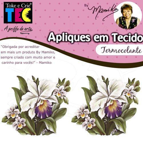Aplique em Tecido By Mamiko - Orquídeas Brancas