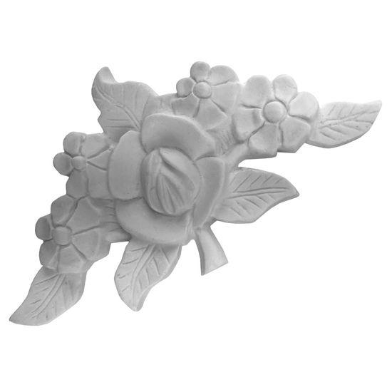 Aplique Flor de Lótus 14,5x8x1,5cm - Resina