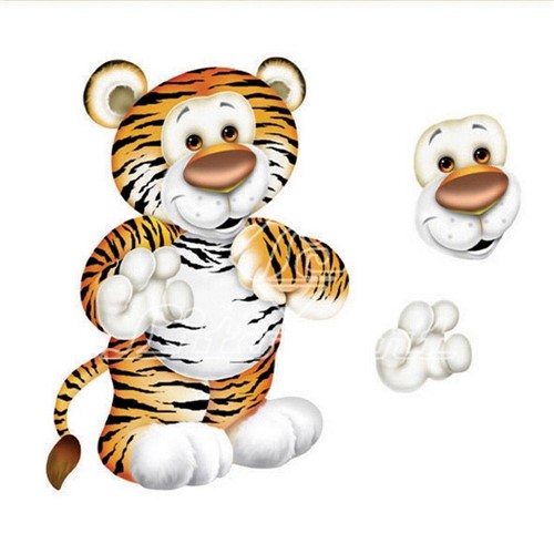 Aplique Madeira e Papel 3d Tigre Ldmpc-007 - Litocart