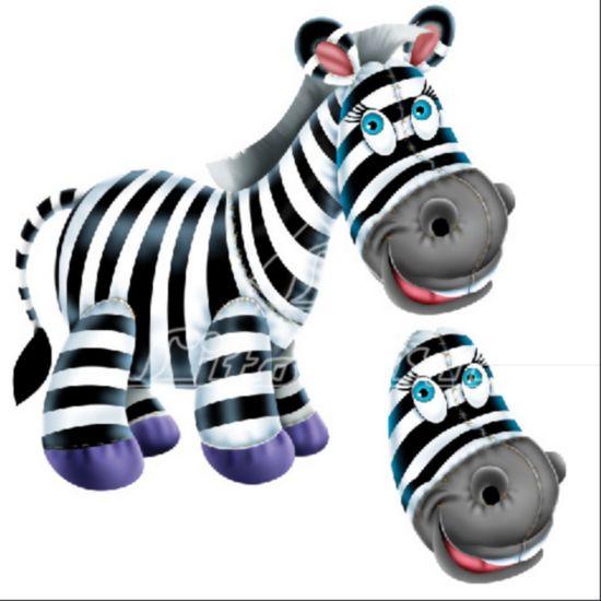 Aplique Madeira e Papel 3D Zebra LDMPC-004 - Litocart