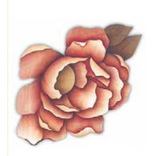 Aplique Madeira e Papel Flores Lmapc-216 - Litocart