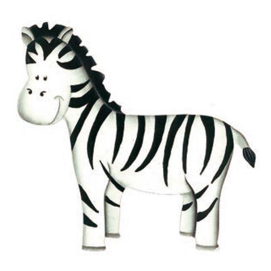 Aplique Madeira e Papel Placa Zebra LMAPC-249 - Litocart