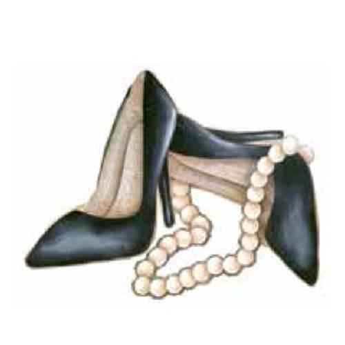 Aplique Madeira e Papel Sapato Lmapc-185 - Litocart