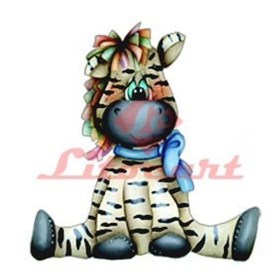 Aplique Madeira e Papel Zebra LMAPC-30 Litocart