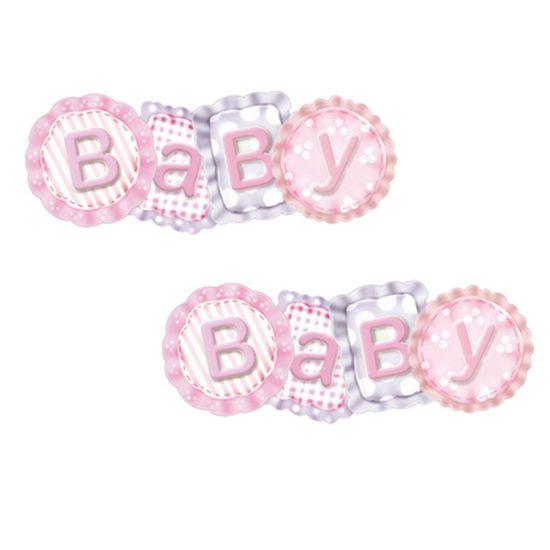 Aplique Mdf Decoupage com 2 Unidades Baby Rosa Lmap-060 - Litocart