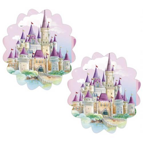 Aplique Mdf Decoupage com 2 Unidades Castelo das Princesas Lmap-043 - Litocart