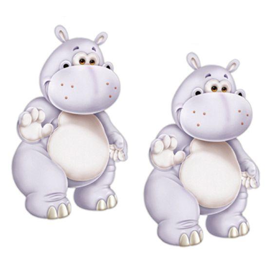 Aplique Mdf Decoupage com 2 Unidades Hipopotamo Lmap-008 - Litocart