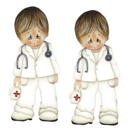 Aplique Mdf Decoupage com 2 Unidades Medico Lmap-032 - Litocart