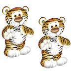 Aplique Mdf Decoupage com 2 Unidades Tigre Lmap-011 - Litocart