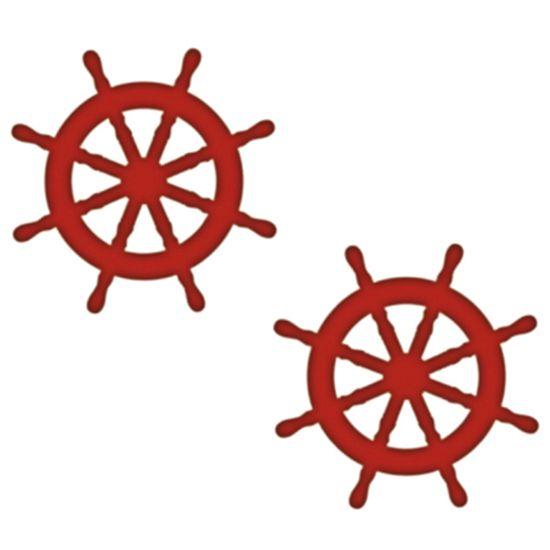 Aplique Mdf Decoupage com 2 Unidades Timão Navio Lmap-071 - Litocart