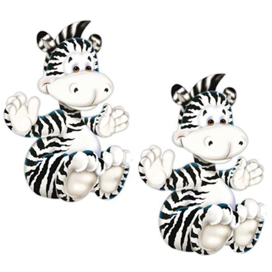Aplique MDF Decoupage com 2 Unidades Zebra Sentada LMAP-013 - Litocart
