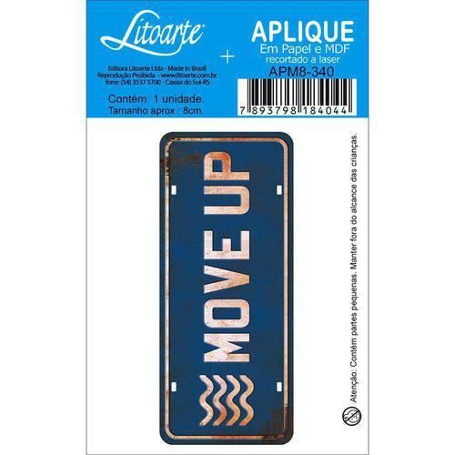 Aplique Mdf e Papel Litoarte 8 Cm - Modelo Apm8- 340 Move Up