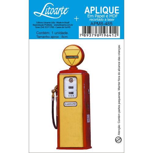 Aplique Mdf e Papel Litoarte 8 Cm - Modelo Apm8- 485 Combustível