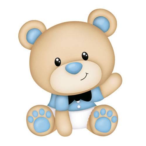 Aplique Mdf e Papel Litoarte 3 Cm - Modelo Apm3-217 Ursinhos Bebês