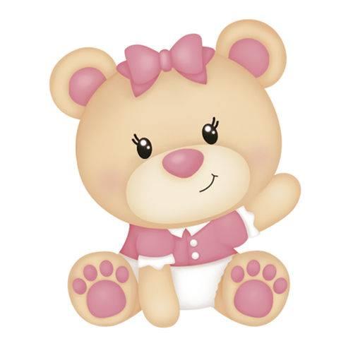 Aplique Mdf e Papel Litoarte 3 Cm - Modelo Apm3-218 Ursinhas Bebês