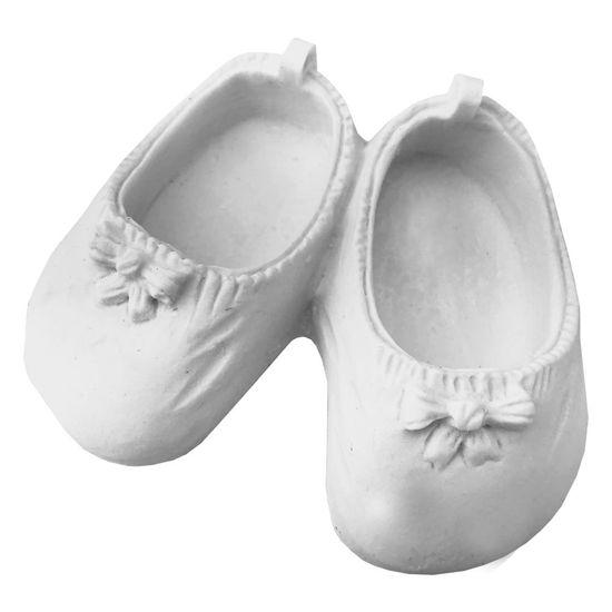 Aplique Par de Sapatos de Bebê com Laço 8,5x7x3cm – Resina