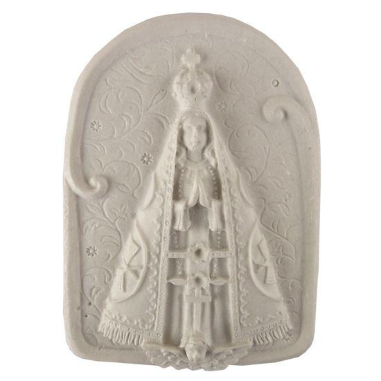 Aplique Religioso Oval Nossa Senhora Aparecida 8,5x6cm - Resina