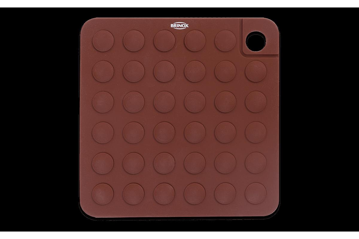 Apoio para Panelas Glacê 17 X 17 X 0,5 Cm Chocolate Brinox